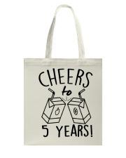 Cheers 5 Years Tote Bag thumbnail