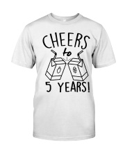 Cheers 5 Years Classic T-Shirt thumbnail