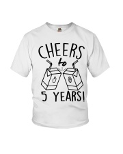 Cheers 5 Years Youth T-Shirt front