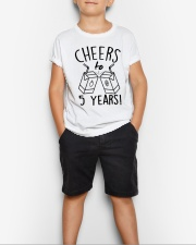 Cheers 5 Years Youth T-Shirt lifestyle-youth-tshirt-front-1