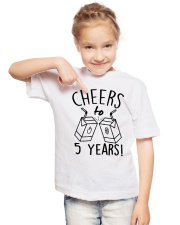 Cheers 5 Years Youth T-Shirt lifestyle-youth-tshirt-front-2