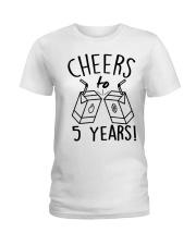 Cheers 5 Years Ladies T-Shirt thumbnail