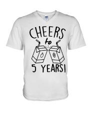 Cheers 5 Years V-Neck T-Shirt thumbnail