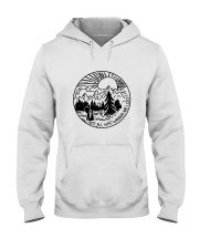 Not All Who Wander Hooded Sweatshirt front