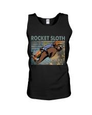 Rocket Sloth Unisex Tank thumbnail