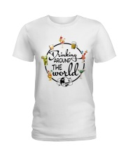 Drinking Around The World Ladies T-Shirt thumbnail