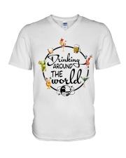 Drinking Around The World V-Neck T-Shirt thumbnail