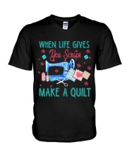 When Life Gives You Scraps V-Neck T-Shirt thumbnail