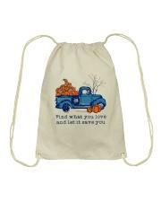 Find What You Love Drawstring Bag thumbnail