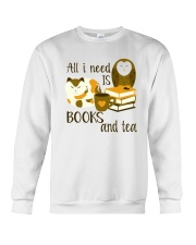 All I Need Is Bookd And Tea Crewneck Sweatshirt thumbnail