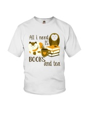 All I Need Is Bookd And Tea Youth T-Shirt thumbnail