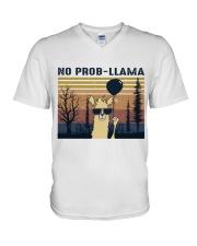 Llama V-Neck T-Shirt thumbnail