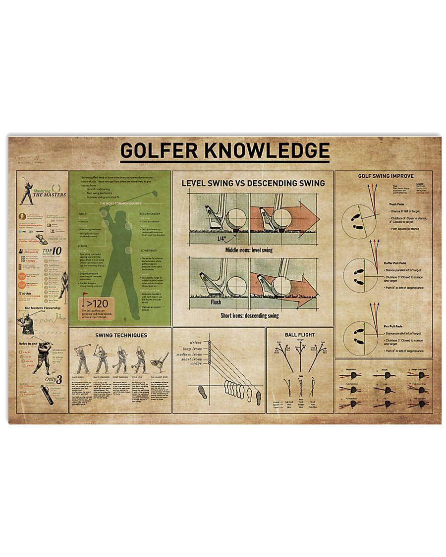 Golfer Knowledge 17x11 Poster