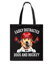 Dogs And Hockey Tote Bag thumbnail