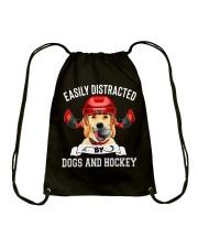 Dogs And Hockey Drawstring Bag thumbnail