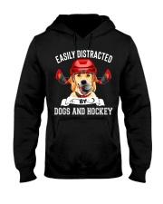 Dogs And Hockey Hooded Sweatshirt thumbnail
