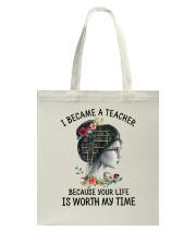 I Became A Teacher Tote Bag thumbnail