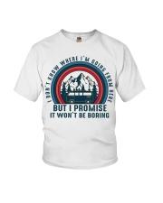 I Wont Be Boring Youth T-Shirt thumbnail