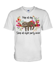 Nap All Day V-Neck T-Shirt thumbnail