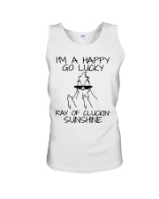 I'm A Happy Go Lucky Unisex Tank tile