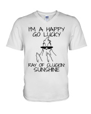 I'm A Happy Go Lucky V-Neck T-Shirt thumbnail