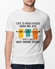 Life Is Much Easier Classic T-Shirt lifestyle-mens-crewneck-front-13