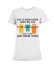 Life Is Much Easier Premium Fit Ladies Tee thumbnail