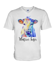 Whatever Heifer 1 V-Neck T-Shirt thumbnail