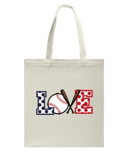 Love Baseball Tote Bag thumbnail