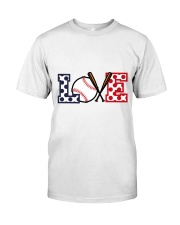 Love Baseball Classic T-Shirt front