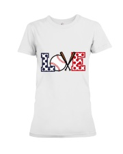 Love Baseball Premium Fit Ladies Tee thumbnail