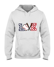 Love Baseball Hooded Sweatshirt thumbnail