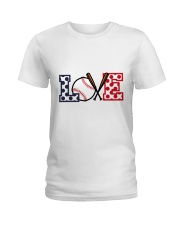 Love Baseball Ladies T-Shirt thumbnail