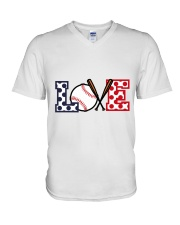 Love Baseball V-Neck T-Shirt thumbnail