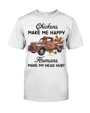 Chickens Make Me Happy Premium Fit Mens Tee thumbnail