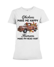 Chickens Make Me Happy Premium Fit Ladies Tee thumbnail