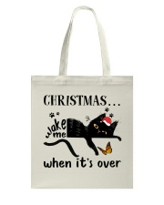 Christmas Wake Me Tote Bag thumbnail