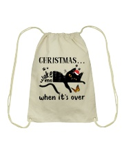 Christmas Wake Me Drawstring Bag thumbnail