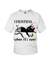 Christmas Wake Me Youth T-Shirt thumbnail
