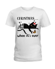 Christmas Wake Me Ladies T-Shirt thumbnail