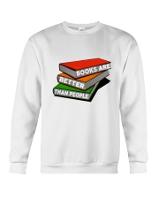 Book Are Better Than People Crewneck Sweatshirt thumbnail