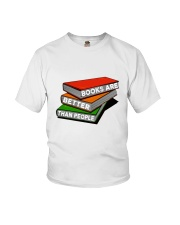 Book Are Better Than People Youth T-Shirt thumbnail