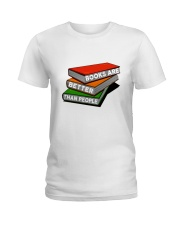 Book Are Better Than People Ladies T-Shirt thumbnail