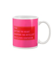 Yoga softens sharpens and clears mind Mug front