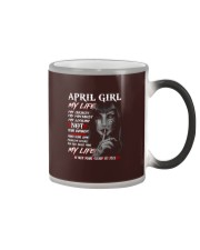 For April Girl- Take it now Color Changing Mug thumbnail
