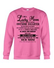 I am a Lucky Mom- Awesome Daughter- Kun 12 Crewneck Sweatshirt thumbnail