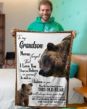 "My grandson remember how much i love you Small Fleece Blanket - 30"" x 40"" aos-coral-fleece-blanket-30x40-lifestyle-front-09"