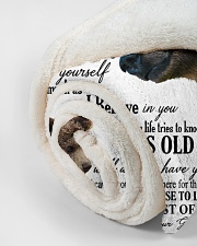 "My grandson remember how much i love you Small Fleece Blanket - 30"" x 40"" aos-coral-fleece-blanket-30x40-lifestyle-front-18"