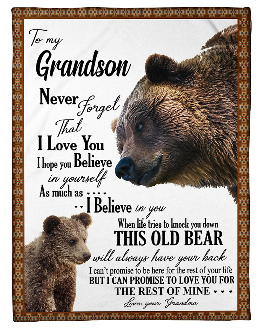 "My grandson remember how much i love you Small Fleece Blanket - 30"" x 40"""