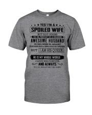 spoiled wife January Classic T-Shirt thumbnail